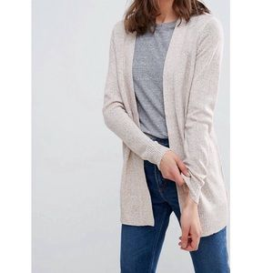 Open Front Soft Knit Cardigan